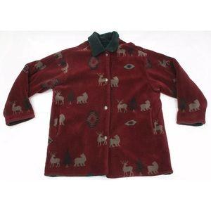 Mens L Vintage Tribal Aztec jacket reversible
